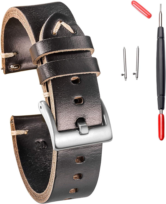 Hemsut Leather Watch Bands for Cheap bargain Max 47% OFF Horween C Men Women