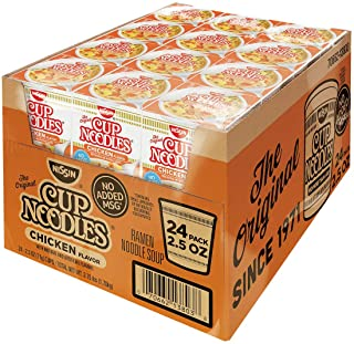 Nissin Cup Noodles Ramen Noodle Soup, Chicken Flavor 2.25 Ounce (Pack of 24)
