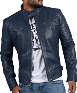 Laverapelle Men's Genuine Lambskin Leather Jacket (Black, Biker Jacket) - 1501344