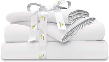Tissaj Organic Cotton 4 Piece Bed Sheets Set