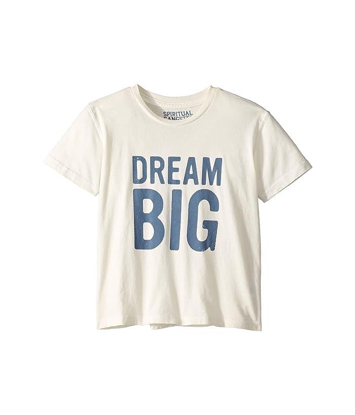 Spiritual Gangster Kids Dream Big Crew Tee (Little Kids/Big Kids) (Stone) Girl's T Shirt
