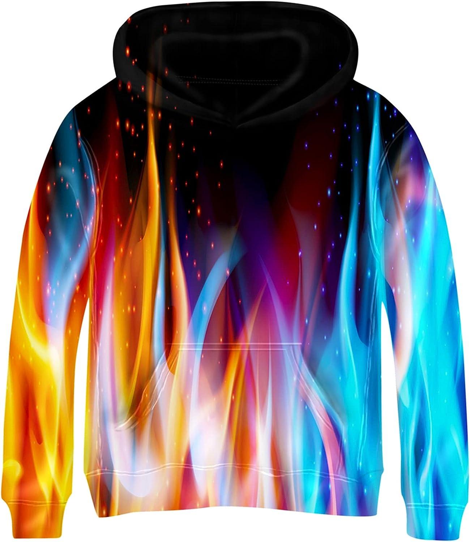 Kayolece Boys Girls Hoodies 3D Unisex Printed Pullover Hooded Sw