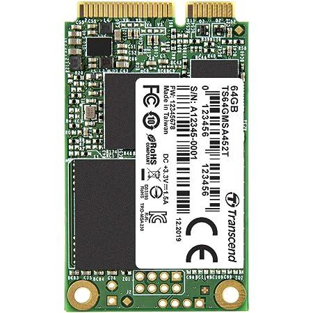 トランセンドジャパン Transcend 業務用/産業用 組込向け mSATA SSD 64GB SATA3 6Gb/s 3D TLC NAND採用 高耐久 3年保証 TS64GMSA452T