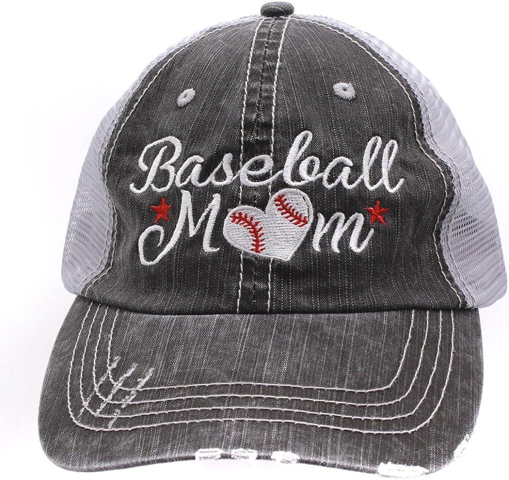 Sun Nowa Baseball #Momlife Mom Love Heart Women Embroidered Trucker Style Cap Hat Grey