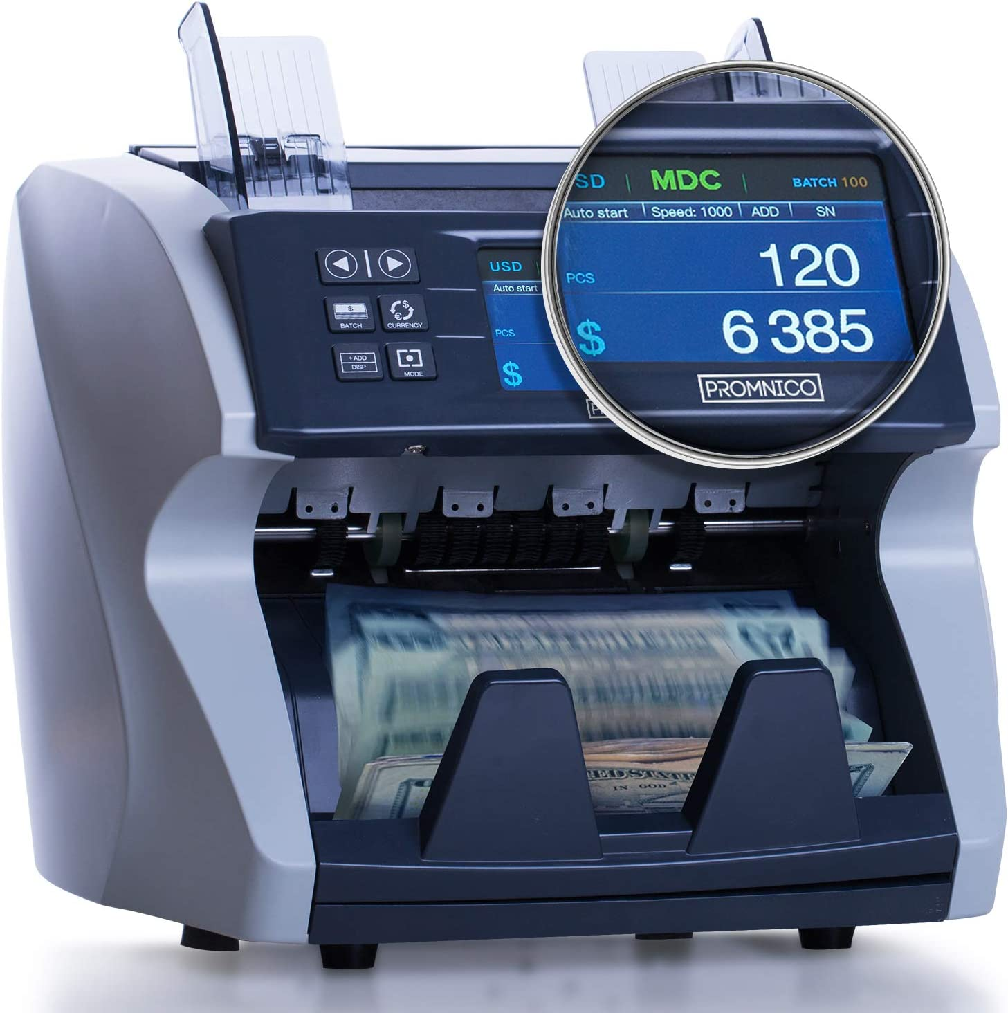 Promnico Money Counter Machine - 2022 Grade Max 55% OFF Mix Upgrade Max 75% OFF Bank