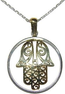 303496dc4458 Amazon.es: La mano de Fatima - Colgantes y monedas preciosas / Mujer ...