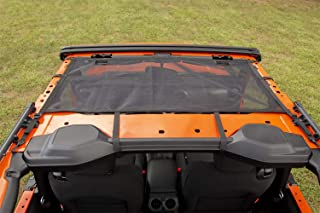 Rugged Ridge 13579.74 Front Black Eclipse Sun Shade, 18-current Jeep Wrangler JL 2-Dr