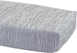 Ethan Allen | Disney Paint Stripe Crib Sheet, Mickey's Ears (Black)