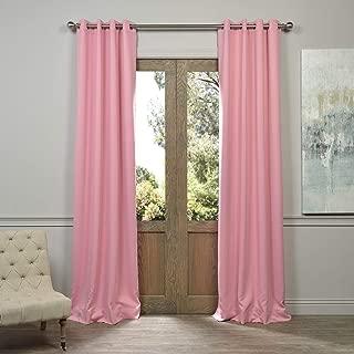 HPD HALF PRICE DRAPES BOCH-201305-108-GR Grommet Blackout Room Darkening Curtain, 50 X 108, Precious Pink