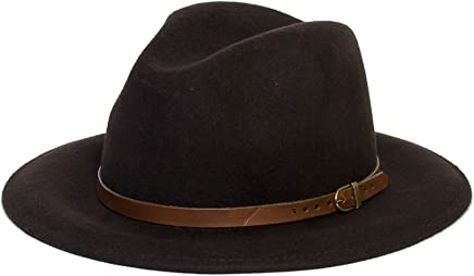 d2d Hats Unisex Plain Fedora Hat with Leather Belt Band d0c6f1e5f18a