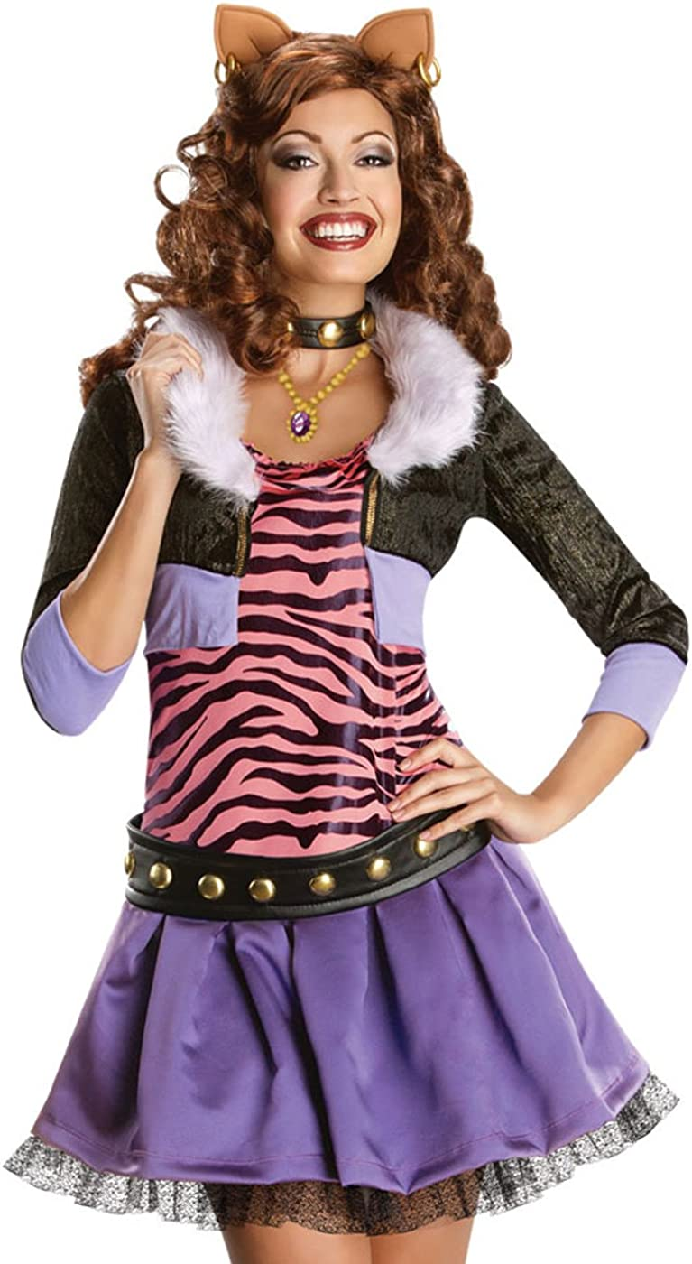 sale Deluxe Clawdeen Wolf Costume - 12-14 Size Large half Dress
