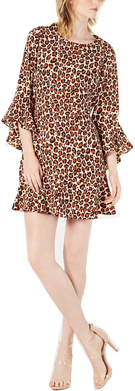 セールSALE%OFF Bar 初回限定 III Women's Dress Bell-Sleeve Cheetah-Print