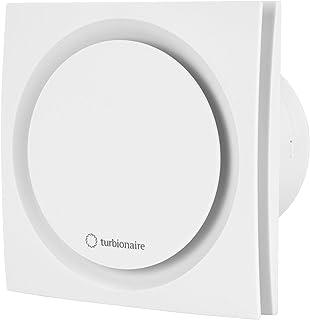 Turbionaire Ring 100 TW con temporizador, aspirador de 100 milímetros, blanco, doble aspiración estándar, para baño, cocin...