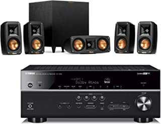 Klipsch Reference Theater Pack 5.1 Surround Sound System Bundle with Yamaha RX-V685BL 7.2-Channel 4K Ultra HD Network A/V Receiver with MusicCast - Black