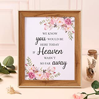TRULIVA We Know You Would be Here Today Sign if Heaven Wasn't So Far Away, Wedding Decor in Loving Memory Sign (Memorial Sign)