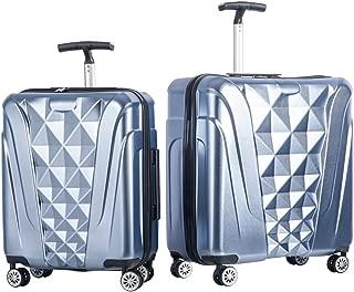 Newest 2 Piece Luggage Set TSA Approved Luxurious Suitcase (Soft Blue)