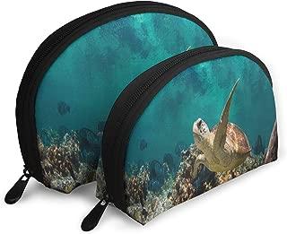 Pouch Zipper Toiletry Organizer Travel Makeup Clutch Bag Sea Turtles Portable Bags Clutch Pouch Storage Bags