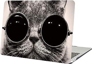 AUSMIX MacBook Retina 12 Inch Case, Creative Stylish Bohemia Customs Design Cover Hard Plastic Rubberized PC Shell for Macbook 12 Inch with Retina Display (Model: A1534) - Cat in Sunglasses