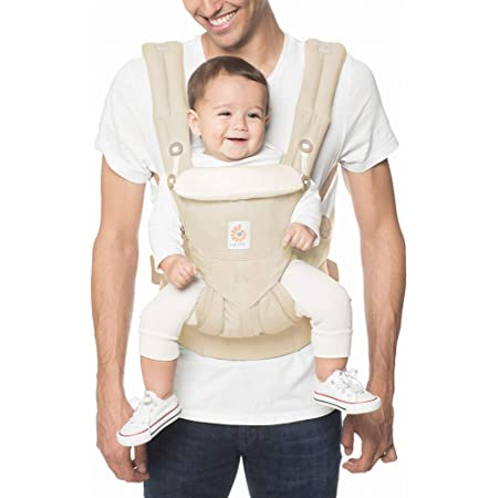 Ergobaby Omni 360 All-Position Baby Carrier for Newborn to Toddler with Lumbar Support (7-45 Pounds), Natural