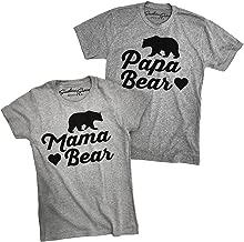 Papa Bear and Mama Bear Shirts Matching (Baby Brother Sister) Family Tees