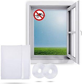 Ucradle Moskitiera okienna (2 opakowania) moskitiera okienna siatka przeciw owadom o wymiarach 150 x 200 cm – moskitiera o...