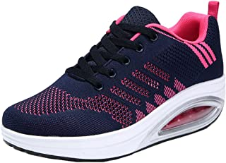 Women's Comfortable Platform Walking Sneakers Lightweight Casual Tennis Air Fitness Shoes US5.5-10
