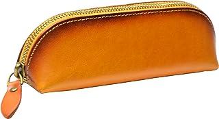 [Rowoon] ペンケース 革 おしゃれ 大容量 スリム 人気 高級感 ビジネス用 ペンケース (キャメル)