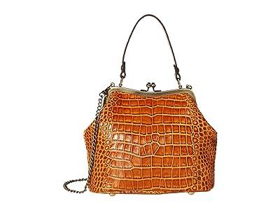 Patricia Nash Laureana Frame Satchel (Cognac) Bags
