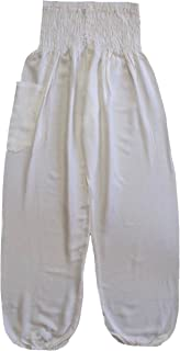 Love Quality White Baggy Harem Pants One Size