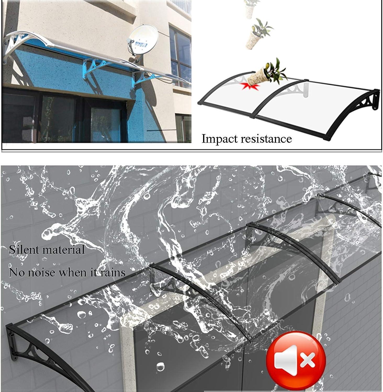 GuoWei Auvent De Porte Et Fen/êtres Abri Silencieux Dauvent De Balcon /À La Maison Couverture De Pluie Et De Neige en Polycarbonate Translucide Format Personnalis/é