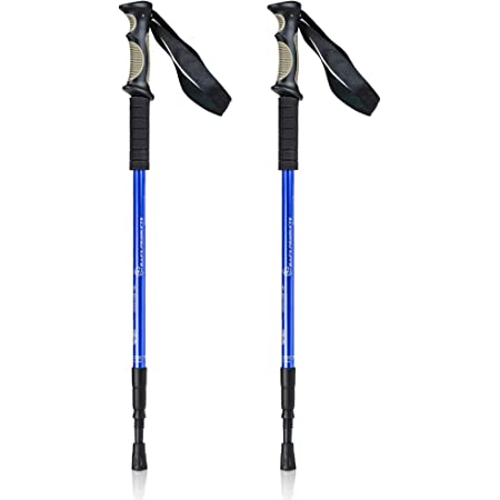 Bafx Products Trekking Walking Hiking Poles Adjustable for All Heights, Durable & Lightweight Aluminum