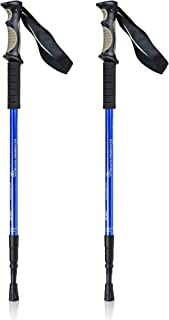 Bafx Products 1 Pair (2 Poles) Adjustable Anti Shock Strong & Lightweight Aluminum Hiking Poles for Walking or Trekking