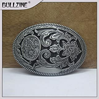 Buckes - The Wholesale Western Belt Buckle with Pewter & Antique Brass Finish FP-03559 Suitable for 4cm Width Belt - (Size: Antique Brass Finish)