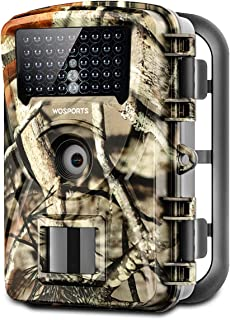 "WOSPORTS Trail Game Camera, 1080P Waterproof Hunting Scouting Cam for Wildlife Monitoring with Night Vision 2.4"" LCD IR LEDs 88W"