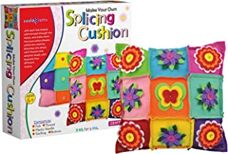 SadoCrafts DIY Felt Splicing Cushion - Fun, Interactive and Educational Pillow Kit for Kids Ages 6+