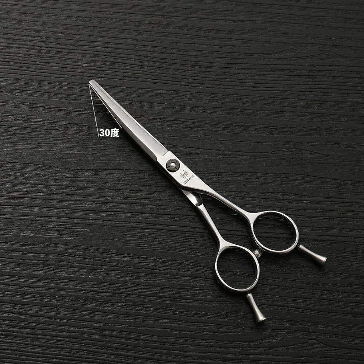 転倒要件市の花Blian1 5.5インチの理髪師はさみのクリッパーの高い等級の銀の理髪用具440Cのステンレス鋼のバリカン (色 : Silver)