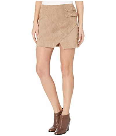 Blank NYC Real Suede A-Line Skirt with Snap Tab Detail in Macchiato (Macchiato) Women