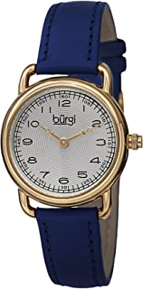 Burgi Women's Classic Analogue Display Quartz Watch with Leather Strap