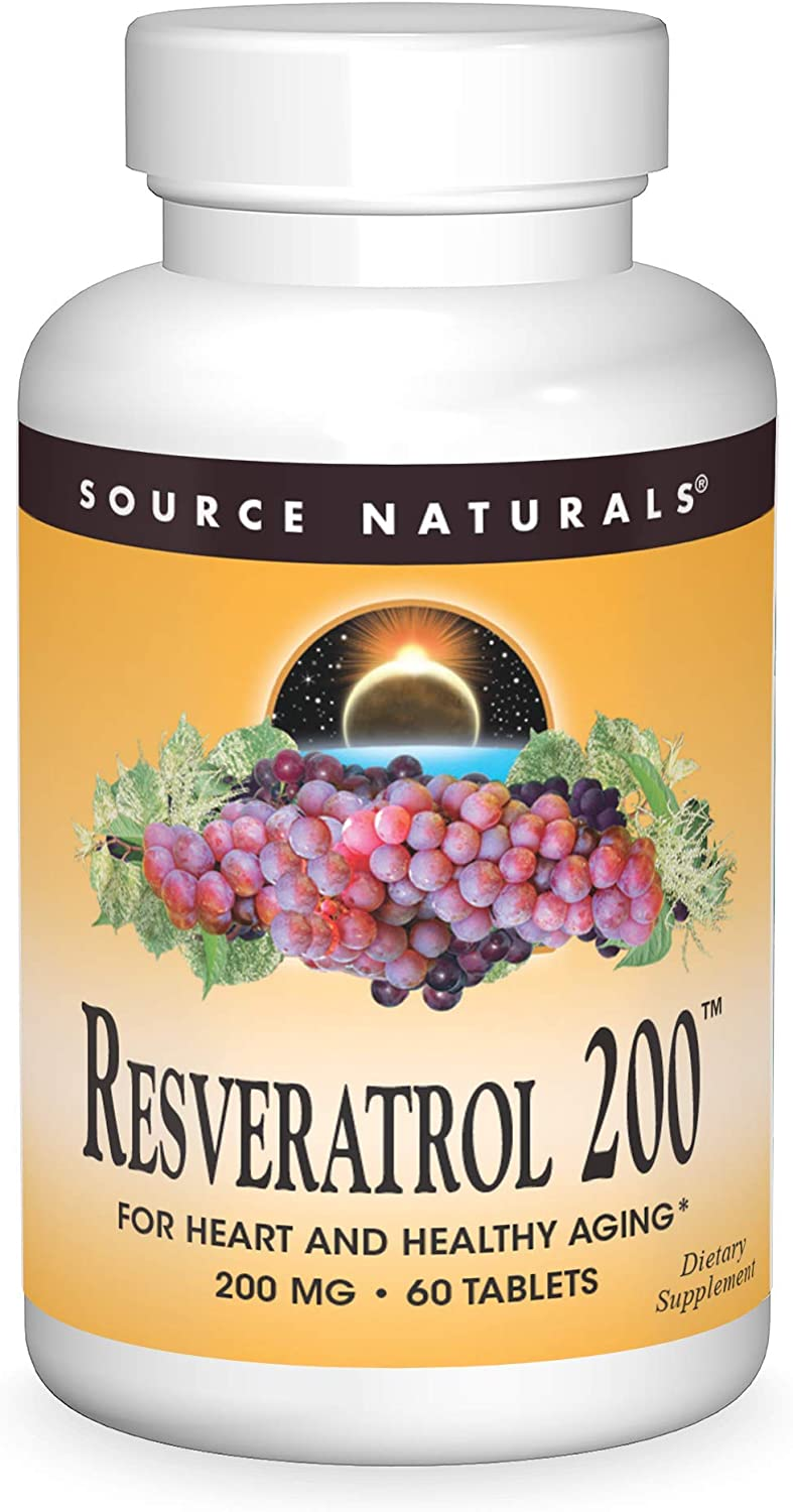 Source Naturals Resveratrol 200 mg for Aging and - Now free shipping gift Heart Healthy