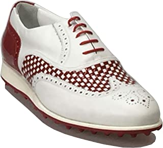 ATELIER GUAROTTI Scarpe da golf da uomo italiane fatte a mano – Swing (senza tacchetti) - Su misura – Winged