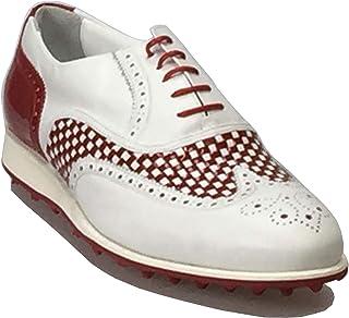 Atelier Guarotti Chaussures de golf italiennes faites main - Balançoire (sans pics) - Sur mesure - Ailes