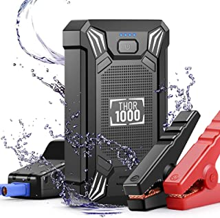 Car Battery Jump Starter Portable - 600A Peak Waterproof 12V Portable Battery Booster Pack (up to 4.0L Gas Or 2.0L Diesel ...