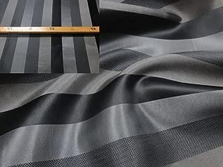 StoffBook Black/Gray Noble Silk Fabric Block Strip Material, d099