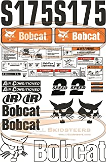 Complete S175 Decal Sticker Kit 30pcs (New Style) for Bobcat Skid Steers | Replaces OEM Model # 7120589