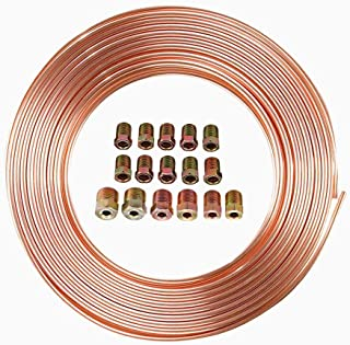 ANTFEES Brake Pipe Fuel/Transmission Line Tubing Coil with Fittings,1/4