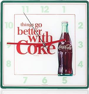 Mark Feldstein Coca Cola Bottle Square Wall Clock - 11.81 Inch