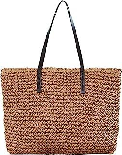Ayliss Women Straw Woven Tote Large Beach Handmade Weaving Shoulder Bag Handbag