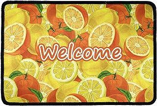 Pensura Orange Pattern with Door Mats Cover Non-Slip Entrance Front Door Rug Outdoors/Indoor Welcome Home Bathroom Doormat