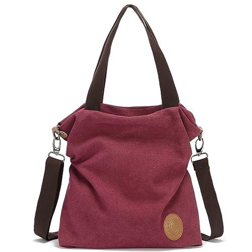 41146a746f Women Canvas Shoulder Bag Casual Tote Bag
