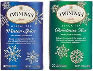Twining Tea Bags Bundle Set – Christmas-Tea and Winter Spice | Perfect for Holidays and Winter Season | Taste that Soothes the Senses | Natural Ingredients